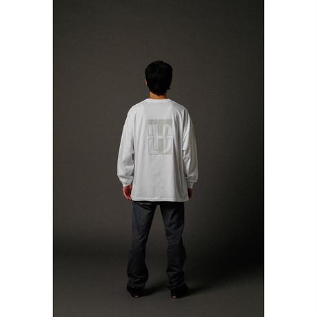 BIG SILHOUETTE LONG SLEEVE T-SHIRT  / WHITE <L-2004>