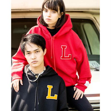 LETTARED WAPPEN PARKA / RED <L-2116>