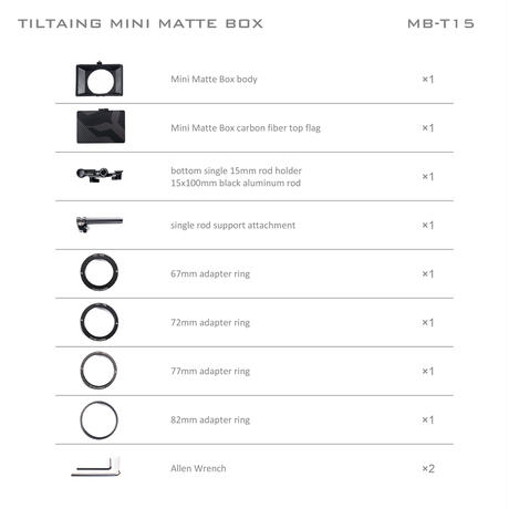 Tiltaing Mini Clamp-on Matte Box (Open Box)