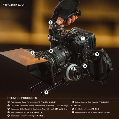 Tiltaing Canon C70 Pro Kit - Black (TA-T12-C-B)
