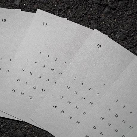 original stamp calendar 2021.4-2022.3