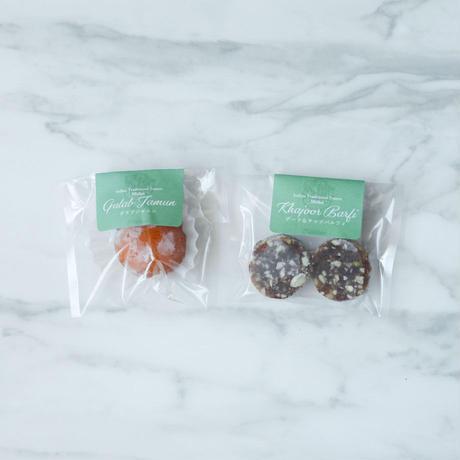 冷凍インド菓子【2種×1パック】グラブジャムン/デーツ&ナッツバルフィ