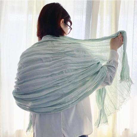 シルク/リネン ワッシャーストール