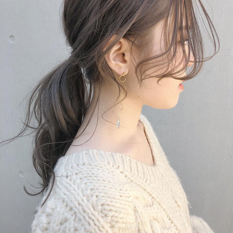 [silver]circle une pierce/earring