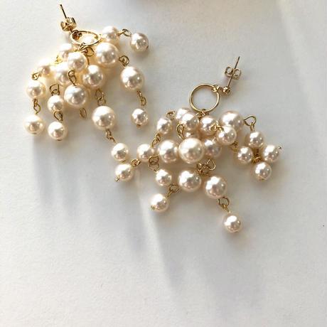 pearl shower pierce/earring