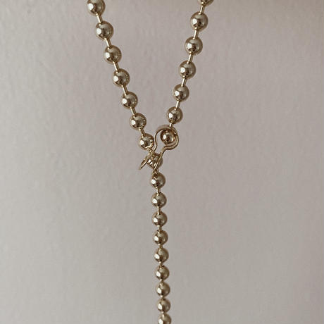 [ gold ] Ball chain necklace