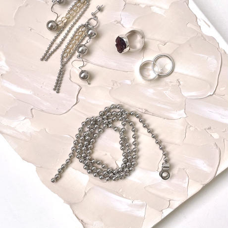 [ silver ] Ball chain necklace