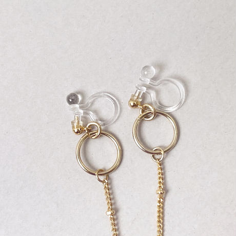 chain flower  pierce/earring