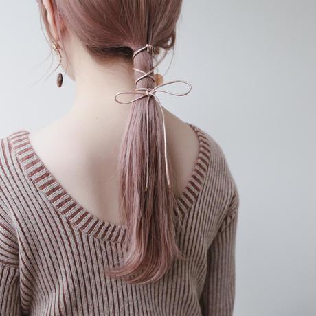 [ Champagne ]  hair ribbon cuff