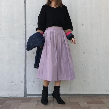再入荷!形状記憶タフタフレアカラースカート(5color)【クリックポスト対象商品】