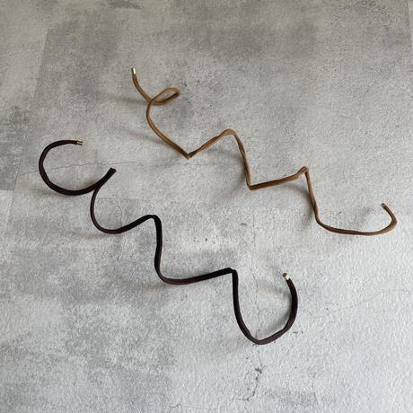 ワイヤー入りスエードヘアアクセ(2color)
