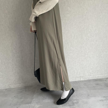 【2021ss】裾サイドスリットデザイン!バックレースアップキャミワンピース(2color)【クリックポスト対象商品】
