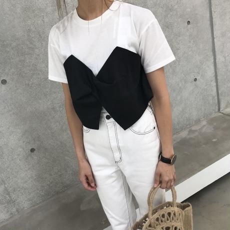 ねじれビスチェドッキングTシャツ【クリックポスト対象商品】