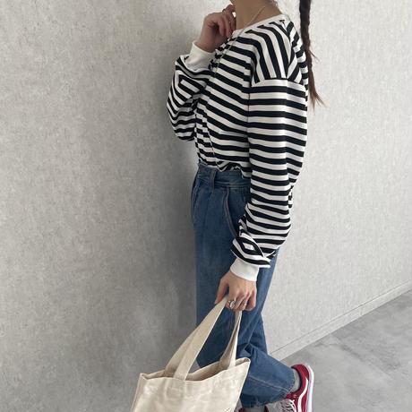 ◆3月中旬入荷予定!予約販売開始!◆【2021ss】ゆるっと可愛い!ボーダー柄プルオーバー (2color)【クリックポスト対象商品】