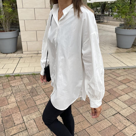 ボリューム袖ブロードバンドカラーシャツ