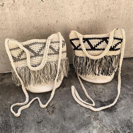 手編みかぎ編みショルダーバッグ/ハンドバッグ(2color)【クリックポスト対象商品】