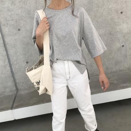 裾スリットボーイフレンドビッグTシャツ(3color)【クリックポスト対象商品】