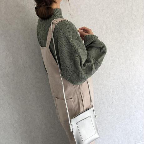再入荷!フロントZIPデザイン!ライスコールサロペット(3color)【クリックポスト対象商品】