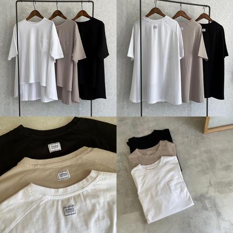 バイオ加工バックフレアTシャツ(3color)