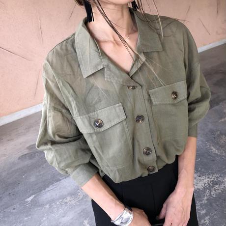 薄手リネンライクオーバーシャツ【クリックポスト対象商品】