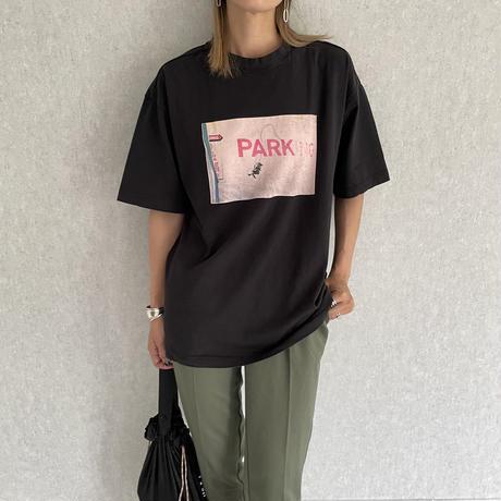 バックラベル付プリントビッグtシャツ