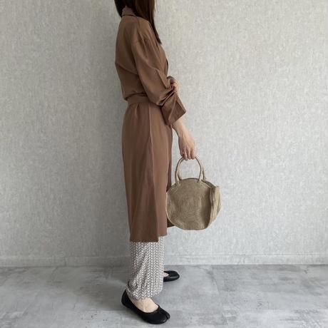 【OUTLET】シャツガウンワンピース