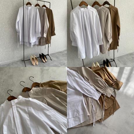 袖リボンタイプライターオーバーサイズシャツ(3color)