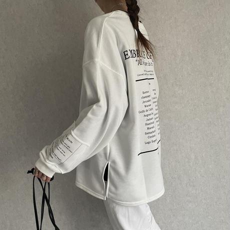【2021ss】袖まで可愛い!ビッグシルエットバックロゴスウェット(3color)【クリックポスト対象商品】