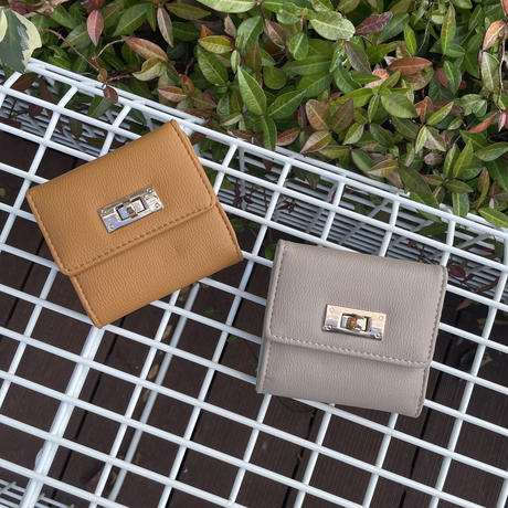 三つ折りヒネリミニ財布(2color)