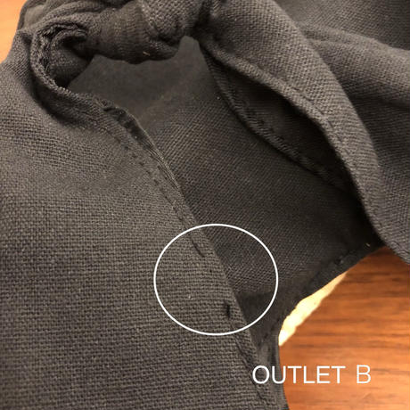 【OUTLET】リネンコットン切り替えかごバッグ