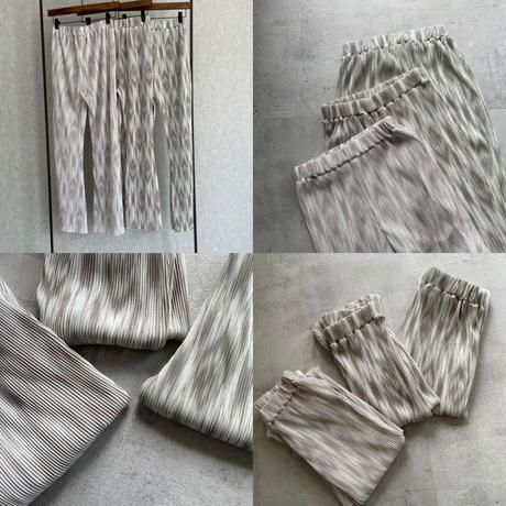 エスニック柄ソフトフレアパンツ(3color)