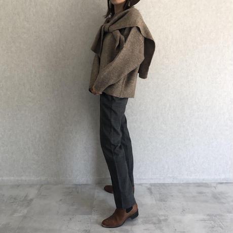 再入荷!ピンタックセミフレアチェック柄パンツ(3color)【クリックポスト対象商品】