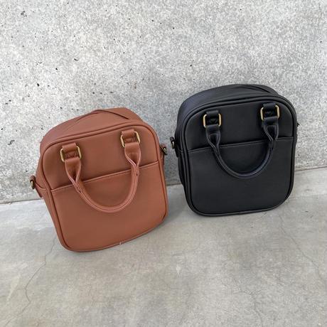 スクエアショルダー2wayバッグ(2color)