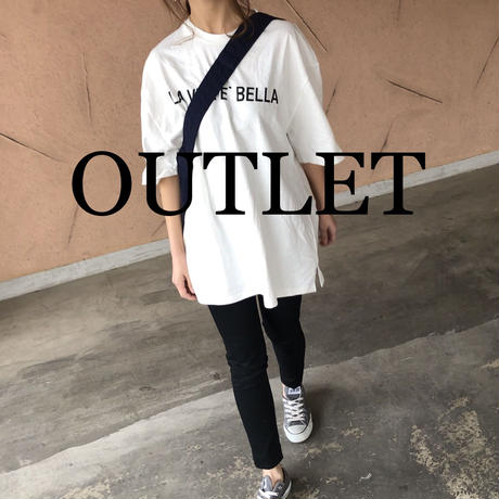【OUTLET】再入荷!ビッグシルエット!ロゴロングtシャツ 【クリックポスト対象商品】