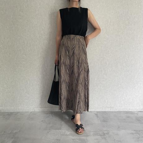 ゼブラ柄マーメイドスカート (2color)