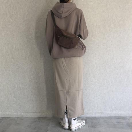 バックスリットスウェットロングスカート