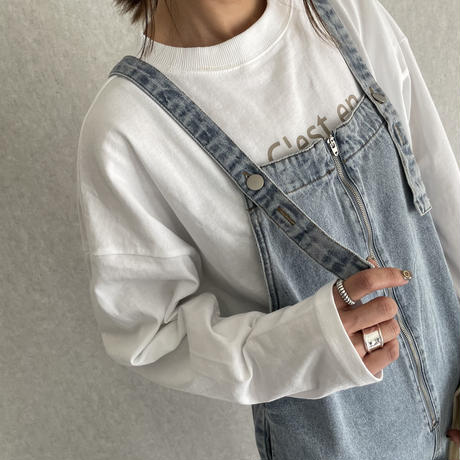 【2021ss】フロントZIPサロペット(2color)