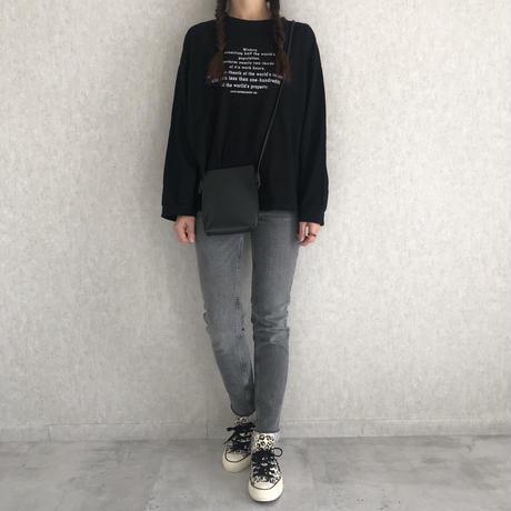 【2021ss】袖までゆったりオーバーサイズ!シンプルロゴプリントロンT(2color)【クリックポスト対象商品】