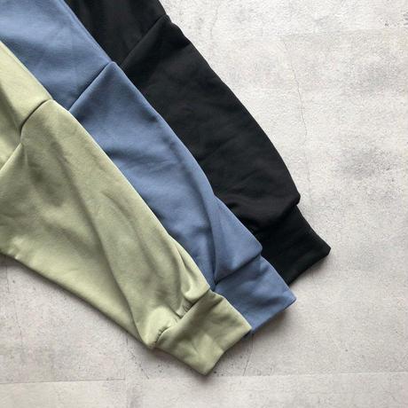 レイヤード風サイドスリットオーバーサイズスウェット(3color)