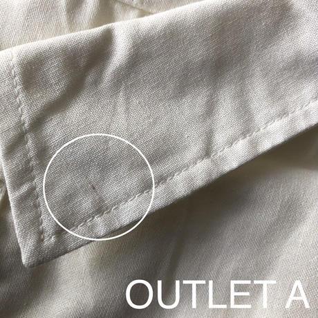 【OUTLET】コットンガーゼロングシャツワンピース(キナリ)