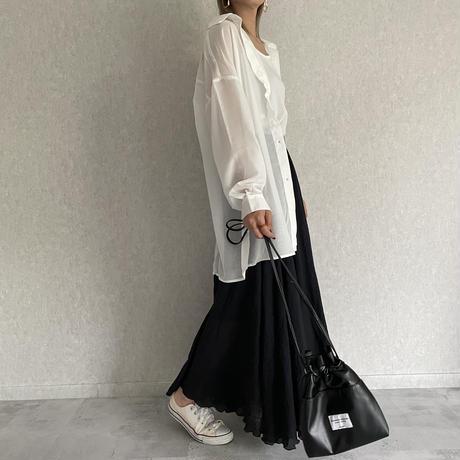 【期間限定!3190円→2871円】シアービッグシャツキャミSET(2color)