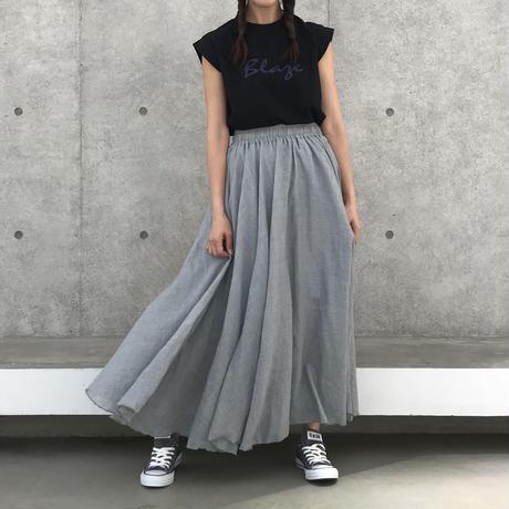 ふんわりフレアーロングスカート(2color)【クリックポスト対象商品】