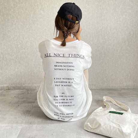 レタリングバックプリントTシャツ(3color)