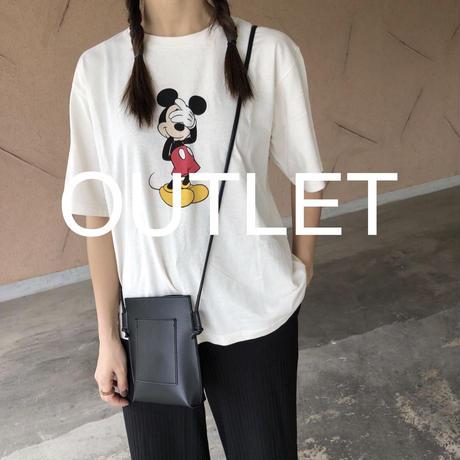 【訳ありOUTLET】目隠しミッキーTシャツ(2color)【クリックポスト対象商品】
