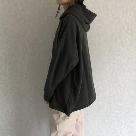 再々入荷!長さ調節可能!裾絞りデザインオーバーサイズ裏起毛パーカー(3color)