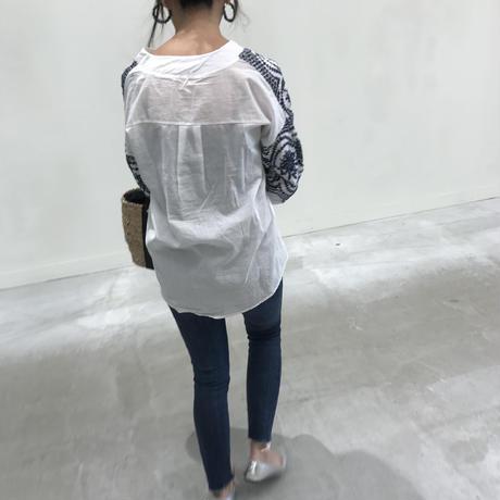 パンチング刺繍ブラウス【クリックポスト送料無料】
