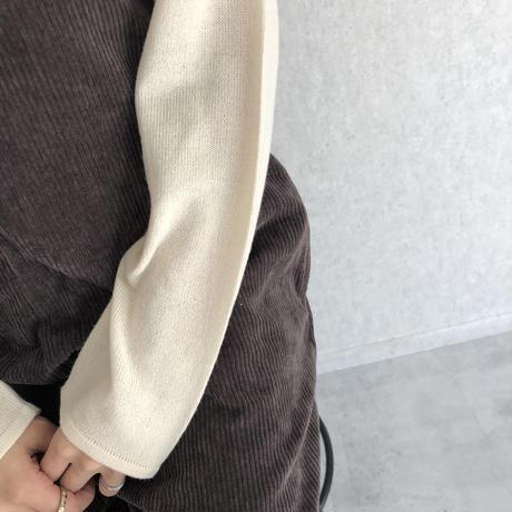 インナーに最適!柔らかな着心地カシミアタッチルーズタートル薄手ニット(2color)【クリックポスト対象商品】