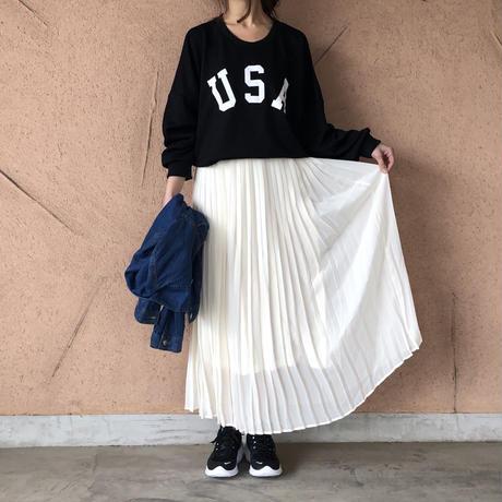 大人気シリーズ!シフォンプリーツロングスカート (3color)【クリックポスト対象商品】