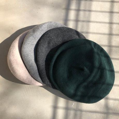 ウール混チョボ付きカラーベレー帽(4color)【クリックポスト対象商品】