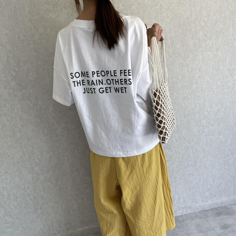 ヘビーウェイトポケット付バックロゴTシャツ(3color)